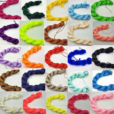 27m Premium Nylon Macrame Cord Thread for DIY Jewelry Making 1mm 2mm
