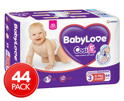 BabyLove Crawler Nappies 6-11kg, 44-Pack