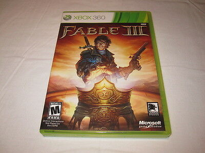 Fable III (Microsoft Xbox 360) Original Release Game Complete Mint!