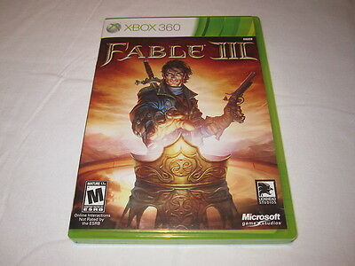 Fable III (Microsoft Xbox 360) Original Release Game Complete Nr Mint!