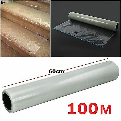 60CM X 100M Heavy Duty Self Adhesive Big Roll Carpet Protector Protection Film