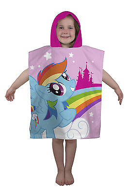 New My Little Poncho Equestria Hooded Poncho Beach Bath Holiday Towel Girls Pink