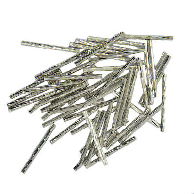 HOT 50pcs Metal Engraved Straight Noodle Tube Spacer Bead Jewelry Finding DIY
