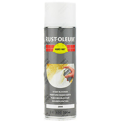 x1 Rust-Oleum Stain Blocker Matt White Spray Paint Hard Hat 2990 Stainblocker