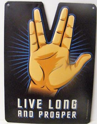 Star Trek Live Long And Prosper Mr Spock Classic Tv Show Metal Sign Decor New