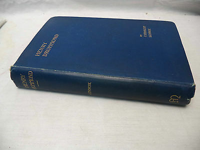 Henry Drummond by Cuthbert Lennox 1901 3rd Edition Religious Book Biography