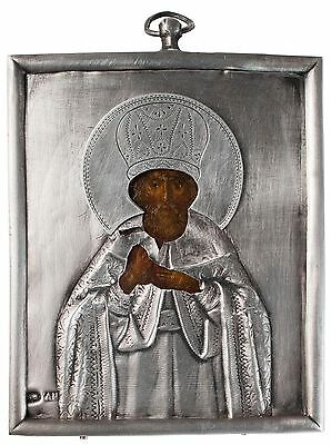 Old Antique Russian icon of Petr Metropolit of Moscow, 19th c
