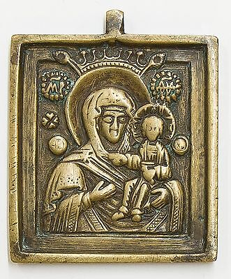 Russian Bronze Icon of Mother of God