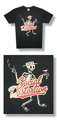 Social Distortion-NEW Skelly LIGHTWEIGHT T Shirt-2XLarge SALE FREE SHIP TO U.S.!
