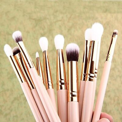 12Pcs Cosmetic Brush Foundation Eye Shadow Makeup Brush Sets Kits Tools Hot