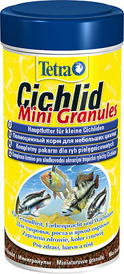 Tetra Cichlid Mini Granules 110g/250 ml-food for all Cichlid