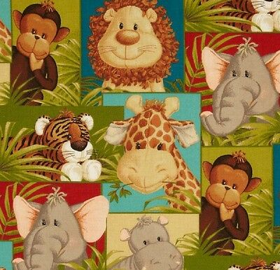 New Jungle Babies Nursery Childrens Animals Complete Cotton Throw Pillow
