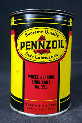 Pennzoil Wheel Bearing Lubricant #351 Metal Tin Canco Can
