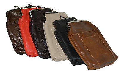 Leather Cigarette Case Pack Holder Regular or 100's Lighter Pocket