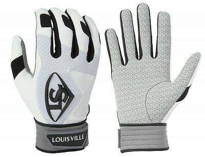 1 pr 2016 Louisville Slugger BGS716 Adult X-Large White Series 7 Batting Gloves
