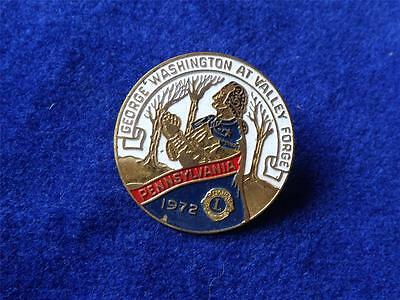 George Washington At Valley Forge 1972 Pennsylvania Lions Club International Pin