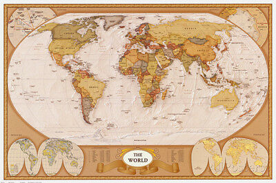 Map of the world poster print 36x24 world map 1399 picclick map of the world poster print 36x24 world map gumiabroncs Images