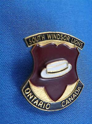 Lions Club Canada South Windsor Vintage Hat Lapel Pin Top Hat