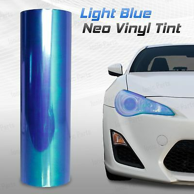 "12""x60"" Chameleon Neo Light Blue Headlight Fog Tail Light Vinyl Tint Film (g)"