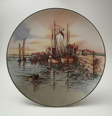 """Royal Doulton England Series Ware 10"""" Plate Home Waters W.e. Grace D6434"""