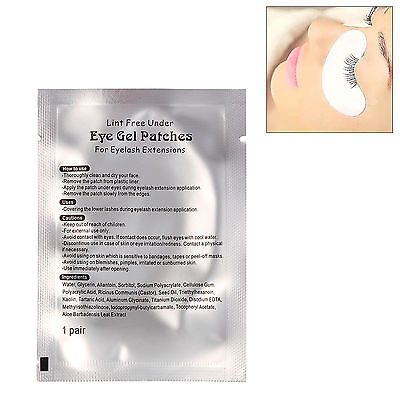 10-100 Pairs Lint Free Under Eye Gel Patch Pad for Eyelash Lashes Extension Tape