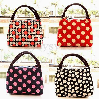 Portable Waterproof Heart Carry Box Lunch Bag Picnic Travel Tote Storage Pouch