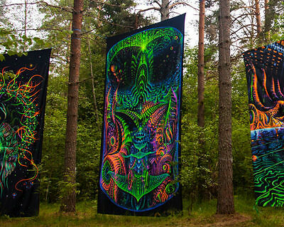 Backdrop Origin Psychedelic Deco Wandbehang 3m x 4,5m Hippie Goa Design UV Kunst