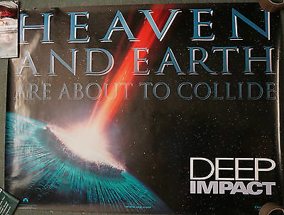 Deep Impact (1998) (Advance) Double Sided UK Quad 30 x 40 inches, Rolled