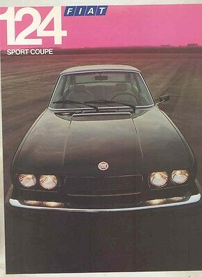 1976 Fiat 124 Sport Coupe Brochure ww1116