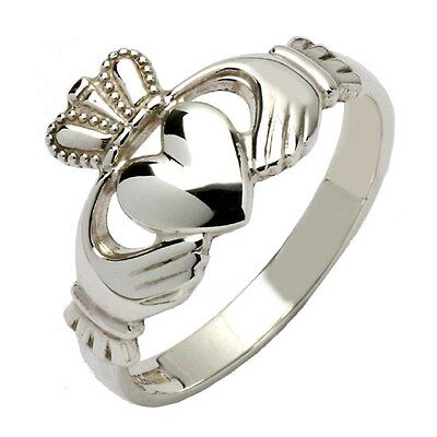 Irish Sterling Silver Made In Ireland Claddagh Ring Shipping Usa 3-9 Days