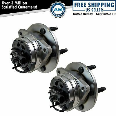 Front Wheel Hub & Bearing Pair Set for Malibu Aura G6 w/ ABS 5 Lug
