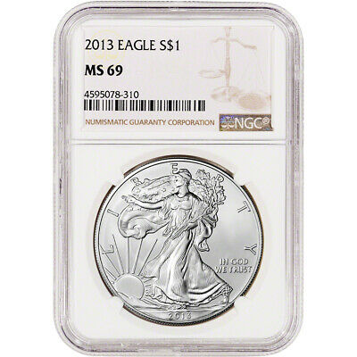 2013 American Silver Eagle - NGC MS69