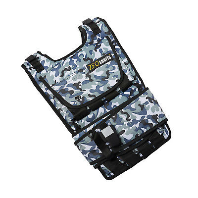 ZFOsports 40LB Arctic Camouflage Adjustable Weighted Vest W/ CELLPHONE POCKET