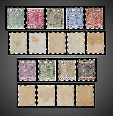 1889 To 1895 Gibraltar  Queen Victoria Lot Mint And Used