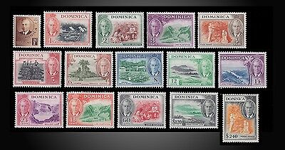 1951 Dominica Definitives King George Vi Mint Hinged , Little Hinged + Used