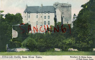 Kilravock Castle From River Nairn, Scotland. Strachins St Ninian Series C1905