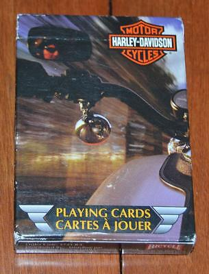 Vintage Bicycle Harley Davidson Playing Cards 725-R-C Made in The USA