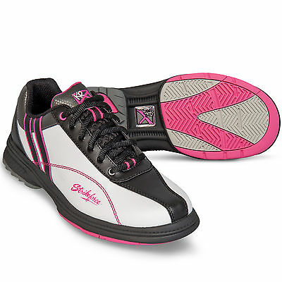Strikeforce Starr Bowling Shoes White Pink Wide Width