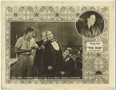 THE DUB (1919) James Cruze Lost Silent Crime Comedy Lobby Card with WALLACE REID