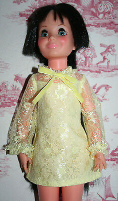 Fab Lemon Lace Dress For Ideal Crissy Sized Dolls