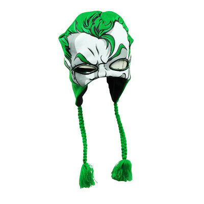 DC Comics Batman The Joker Warner Bros Peruvian Beanie Face Mask Tassel Hat