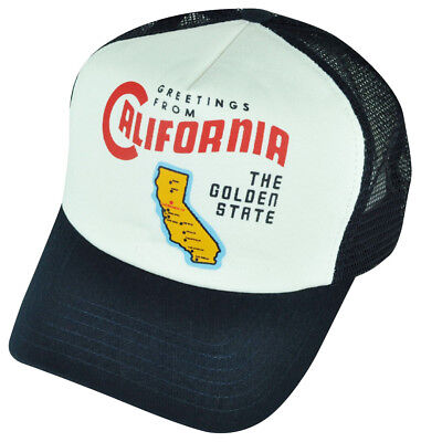 d52977abe8710 American Needle California The Golden State Foam Panel Mesh Snapback Hat Cap
