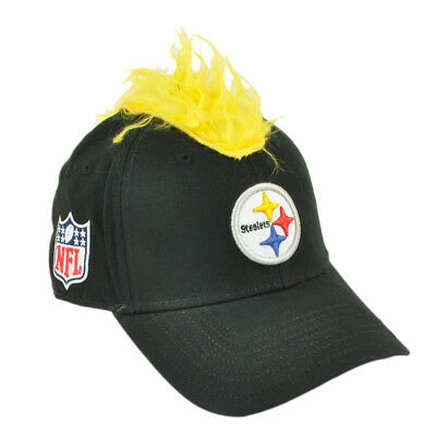 NFL Pittsburgh Steelers Spike Mohawk Flair Hair Stretch Flex Fit L/XL Hat Cap