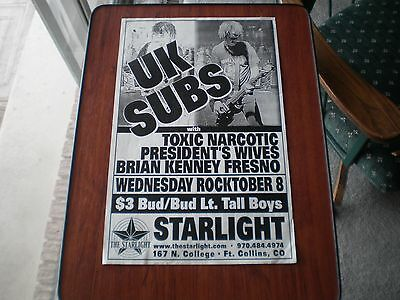 UK SUBS poster promotional