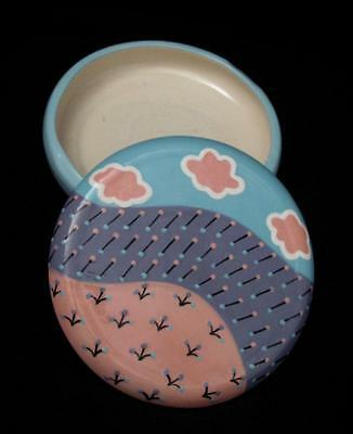 Handpainted Monkeys Of Melbourne Australian Pottery Lidded Dish Memphis Op Art