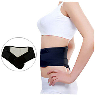 New Adjustable Pull Heat Therapy Waist Elastic Belt Lumbar Back Brace Support zp