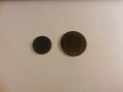 Lot - Two 1833 Coins From India - Nice - # 100519