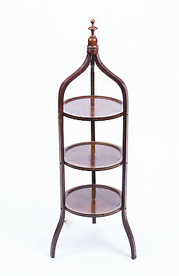 Antique Edwardian Mahogany 3 Tier Cake Stand c.1900