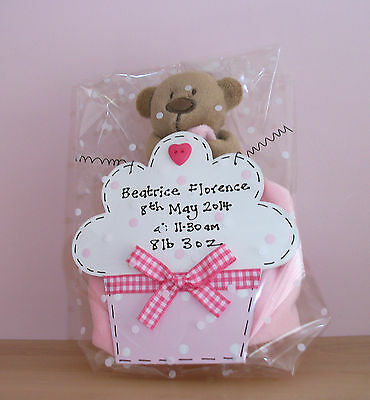 PERSONALISED Sign & Teddy Comfort Blanket  ~ GIFT SET ~ New Baby Christening