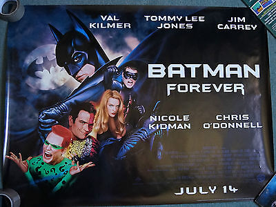 Batman Forever (1995) Original UK Double Sheet QUAD Poster 30 x 40 inches